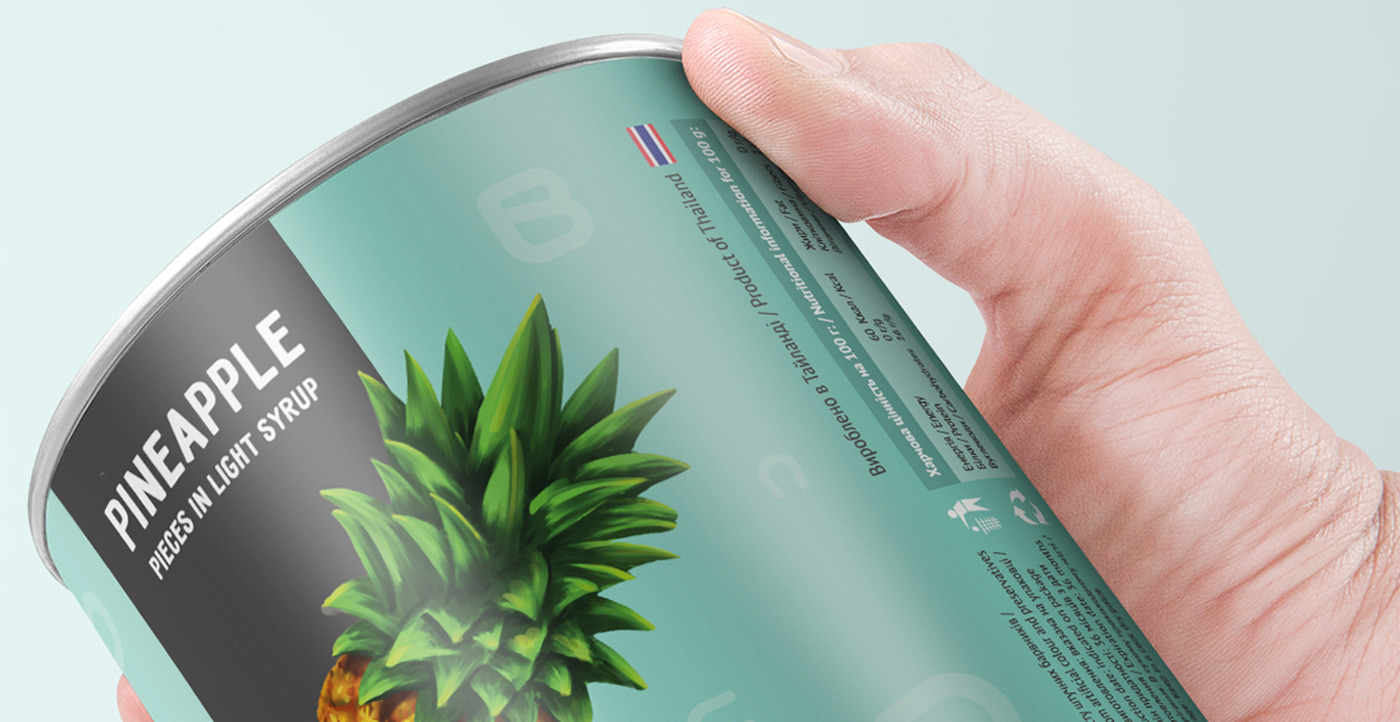 package design pineapple
